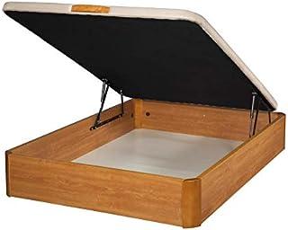 Santino Canapé Abatible Wooden Gran Capacidad Cerezo 120x190 cm con Montaje a Domicilio Gratis