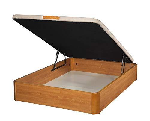 Santino Canapé Abatible Wooden Gran Capacidad Cerezo 150x190 cm con Montaje a Domicilio Gratis