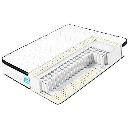 Famree Matratze 90x200, Leiser 7-Zonen Taschenfederkernmatratzen-Atmungsaktiv mit 3D-Memory Schaum H4, Optimale Unterstützung von Lenden- und Beckenbereich, Öko-Tex Zertifiziert