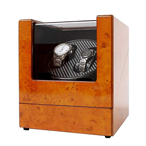 CCAN Enrollador de Reloj Cuadrado Doble enrollador de Reloj para Relojes automáticos Caja Dos Fuentes de alimentación Silencio Durable para 2 Relojes