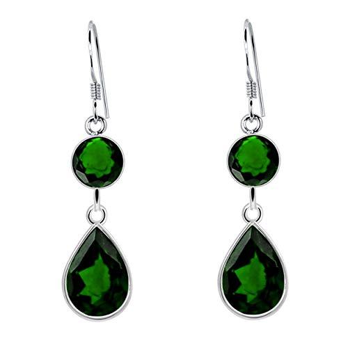 Orchid Jewelry 4.1 Ctw Pera Verde Esmeralda Bisel