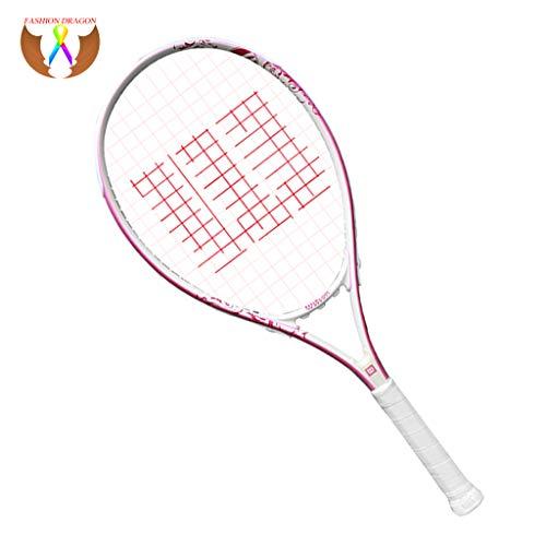 Tennisschläger Erste Schritte Schläger Leichter Tennisschläger für Damen Aluminiumrahmen Freizeit-Unterhaltungsschläger Pink-27inches