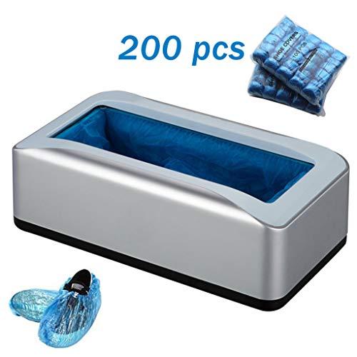 Automatische Overschoenen Machine Dispenser, met 200Pcs Beschikbare Plastic Boot Shoe Cover, voor Shop en medisch, thuis, op kantoor,Gray