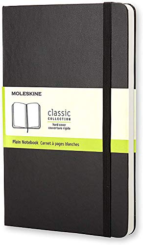 Moleskine Classic Notebook, Medium, Plain, Black, Hard Cover (5 x 8.25) (Classic Notebooks)