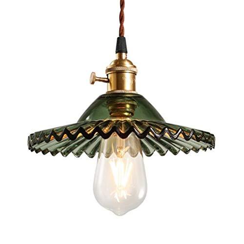 Industrial Lámpara de Techo Retro, E27 Lámpara Colgante de Cristal Vintage, Colgante...