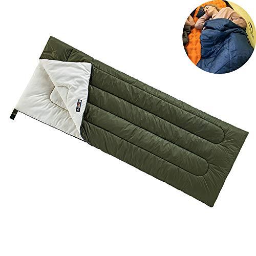 HKIASQ Sacos de Dormir para Adultos Sacos de Dormir rectangulares livianos de 3 Estaciones, Saco de Dormir con sobre y Bolsa de Transporte,B,190 * 75CM