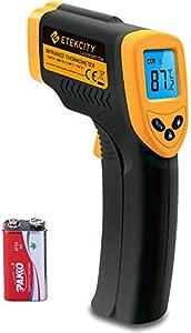 Etekcity 774 - Termómetro Infrarrojos Digital (Medidor de Temperatura sin Contacto, -50 hasta +380 °C, Iluminación LCD, Color Amarillo/Negro, No Apto Para Personas)