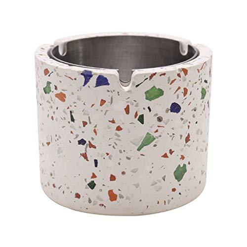 Cemento sin cubierte Cenicero Inicio Tabla de café Oficina Decoración de Escritorio Cenicero Metal Cenicero Interno Cenicero Regalo (Size : E)