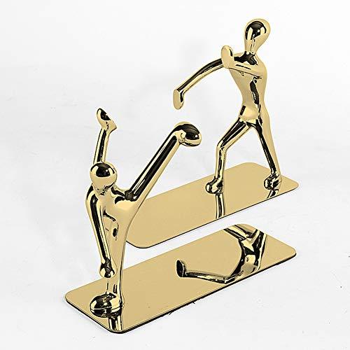 DGYAXIN Sujetalibros de Metal Decorativo, estatuas de Libros de papelería para Lectura, Biblioteca, Oficina, hogar, día del Padre