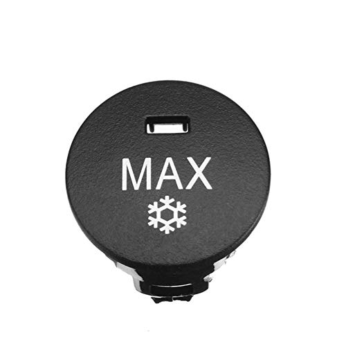 NO LOGO LSB-Auto-Schalter, 1pc Off/Erholung/Max Auto Heizung Klima Knob Panel-Klimaanlagen-Button-Schalter Reparatur Cap-Abdeckung for BMW 5er E60 E61 (Farbe : MAX)