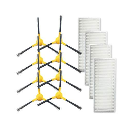 FBGood Staubsauger Ersatzteile, Reinigungs Swerkzeugsätze Kompatibel mit Haier TAB-T550WSC / TAB-T560H / JD5F0LSC / TAB-JD5G0Z Kehrmaschinen Zubehör (8 Seitenbürsten + 4 Filter)