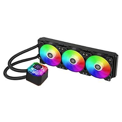 SilverStone Technology IceGem 360, 360mm ARGB AIO liquid cooler with 3 x 120mm ARGB fans, SST-IG360-ARGB