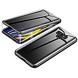 Jonwelsy Anti-Spy Cover per Samsung Galaxy Note 9, 360 Gradi Protezione Case, Privacy Vetro Temperato Anti Peep Custodia, Adsorbimento Magnetico Bumper Metallo Frame per Galaxy Note 9 (Nero)
