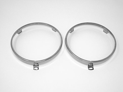 "classicimports240z 5 3/4"" Headlight Headlamp Trim Ring Retainer Pair for Datsun 520 521 620"