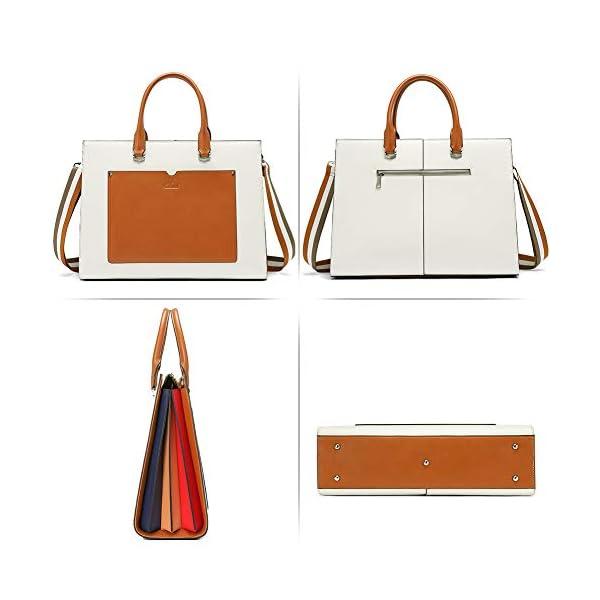 CLUCI Women Briefcase Genuine Leather 15.6 Inch Laptop Slim Business Ladies Shoulder Bag Black 5