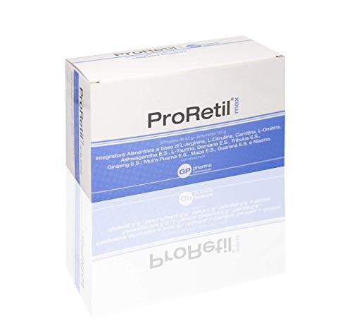 ProRetil® MAX 30 bustine Integratore Nutraceutico costituito da componenti utili per sport, affaticamento e per il trattamento della disfunzione erettile.