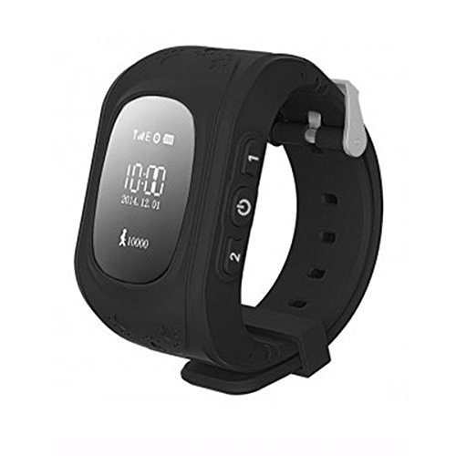 Mobivax Q50 Kids Smartwatch with GPS Tracker and Sim Support System, Calling Function and Camera for All 3G and 4G Android and IOS Smartphones (Black)