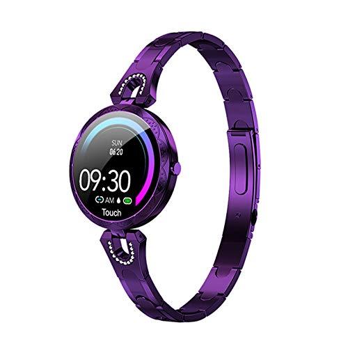 Reloj Inteligente De Las Señoras De La Moda AK15, Ritmo Cardíaco Impermeable Y Monitoreo De La Presión Arterial Pulsera De Regalo De Las Señoras Smartwatch para Android iOS,A