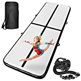 INTEY 10ft Inflatable Gymnastics Air Track Tumbling Mats with Electric Pump, Tumble Track Air Mat for Gymnastics Training/Home Use/Water Yoga/Cheerleading