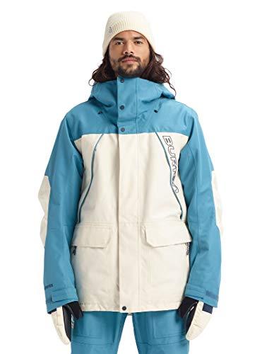 Burton Mens Gore-Tex Breach Jacket, Almond Milk/Storm Blue, Large