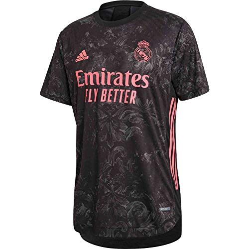 adidas Real Madrid 3rd Authentic Men's Jersey 20-21 (M) Black