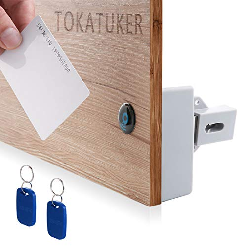 Tokatuker RFID Electronic Cabinet Lock Hidden DIY for Drawer Cabinet
