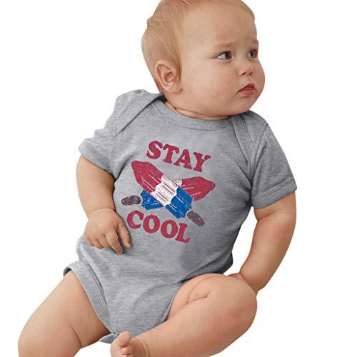 Julhold Zomer Nieuwste 0-24 Maanden Pasgeboren Baby Meisjes Jongens Casual Korte mouw Bodysuit Letter Print Katoen Romper