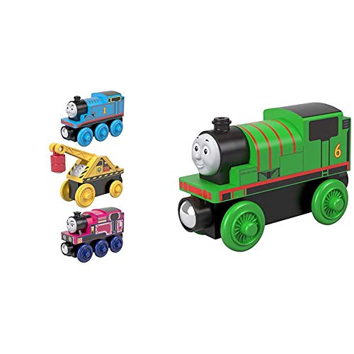 Fisher-Price Thomas & Friends Small Engine, 3 Pack, These Thomas & Friends Wood Toy Trains Help Kids Experience a World...