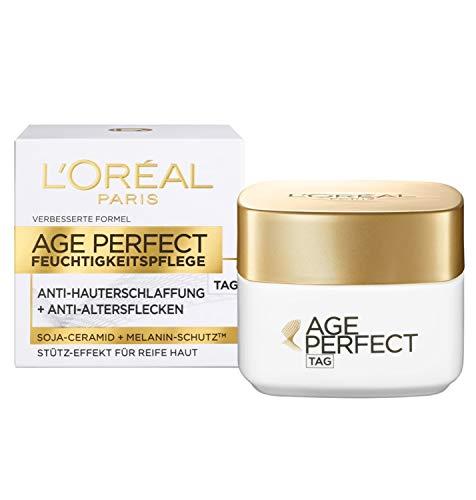 L'Oréal Paris Age Perfect Anti-Aging Tagescreme, Gesichtscreme mit Soja-Ceramid für straffe Haut, mildert Altersflecken und wirkt gegen Hauterschlaffung, 50ml