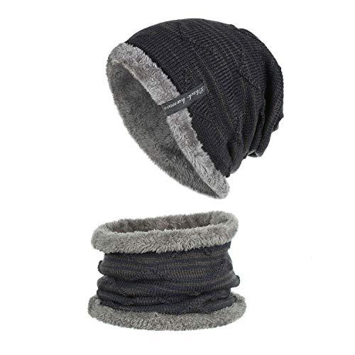 FHYY winter muts beanie gebreide mutsen pet verhogen fluweel haak hoed sjaal pak, S