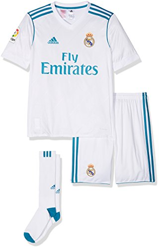 adidas Real Madrid Mini Kit Temporada 2017/2018,  Niños, Blanco   (BLANCO/AZUINT), 140