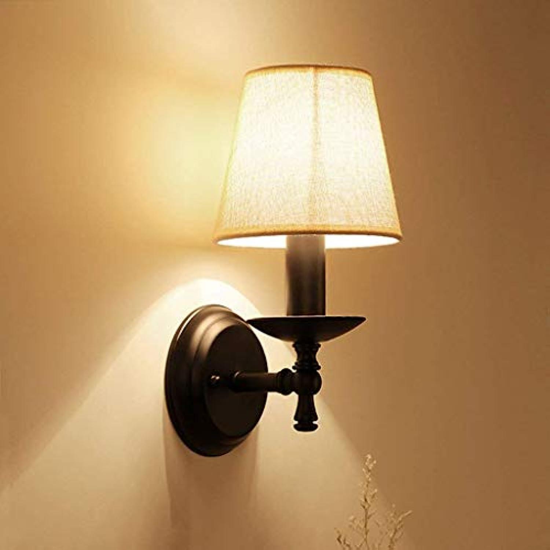 Wall Light Home Wandmontierte Wandleuchte E14 Schlafzimmer Kopfteil Wandleuchte Wohnzimmer Balkon Gang Wandleuchte Europische Einfache Moderne LED Dorf Schmiedeeisen Lampen (Größe   B)