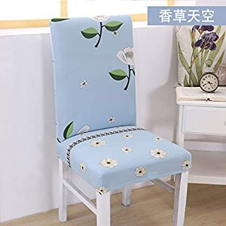 T-CYYT 2 Pieces Universal Stretch Chair Cover Simple Office one-Piece Chair Cover, Vanilla Sky