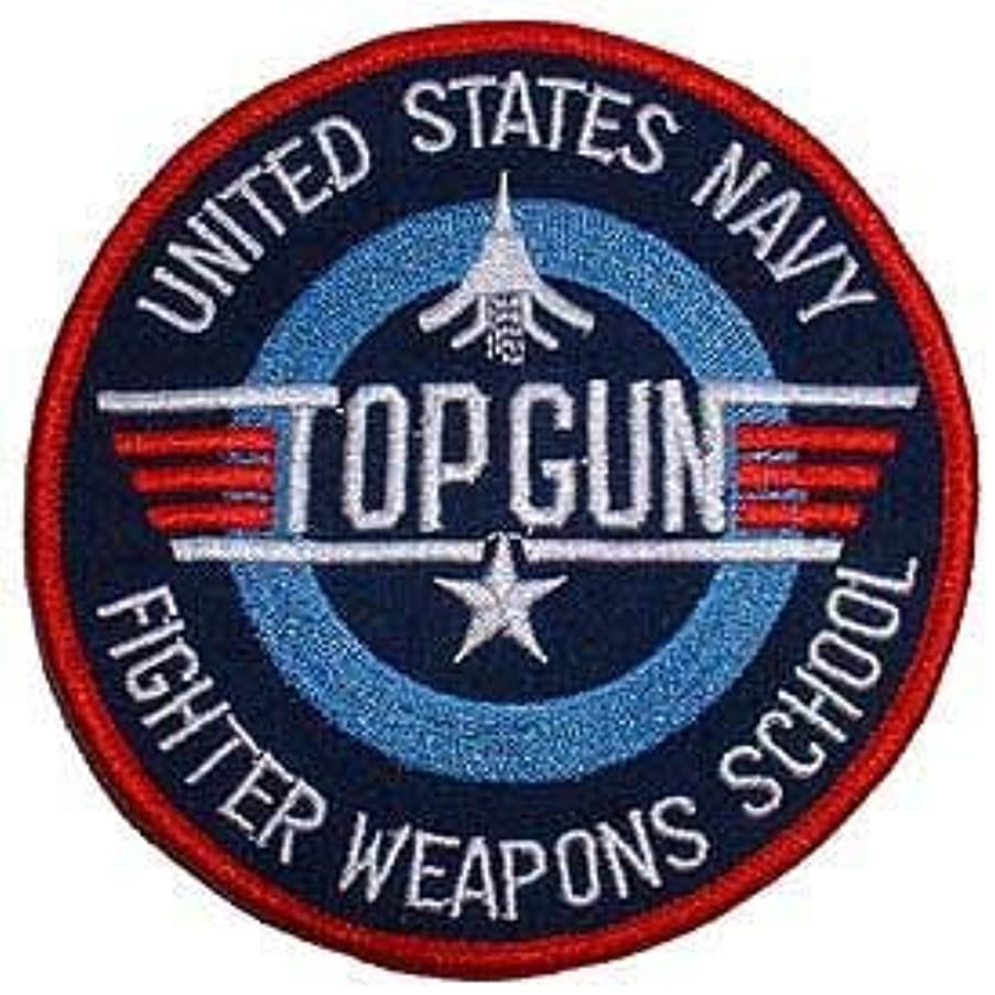USN, TOP Gun Fighter - Embroidered Patches, Premium Quality Iron On Patch - 3