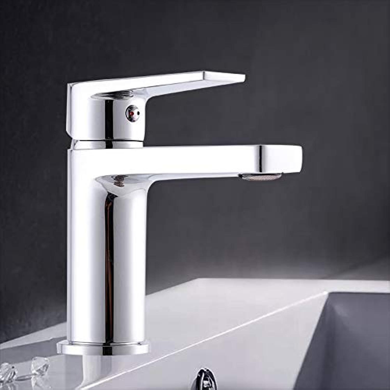 Warmes und kaltes Mischwasser-einzelnes Loch-quadratisches Waschbecken-Becken-Hahn