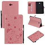 Funda para tablet Samsung Galaxy Tab A de 10,1 pulgadas 2016 (SM-T580/T585), con hebilla magnética, plegable, resistente a golpes, 9,6 pulgadas (color rosa