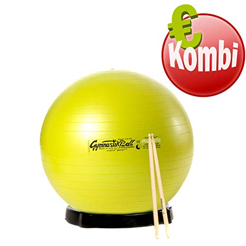 Drums Kombi Pezzi Ball MAXAFE 65cm Ø Ballschale Drums Stick Gymnastikball