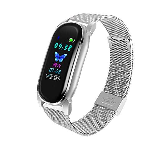 Reloj inteligente para mujer, Bluetooth, monitor de ritmo cardíaco y presión arterial, GPS, pista de correr, pulsera inteligente, pulsera D