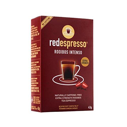 Red Espresso - Intenso Rooibos (Redbush) Thee (10 Capsules) - Nespresso Compatibel - Natuurlijk - Veganistisch - Glutenvrij - Kosjer - Geen toegevoegde suikers