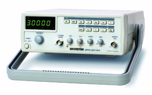 GW Instek GFG-8216A Function Generator with 6 Digit LED Display, Frequency Counter, 0.3Hz to 3MHz Frequency Range