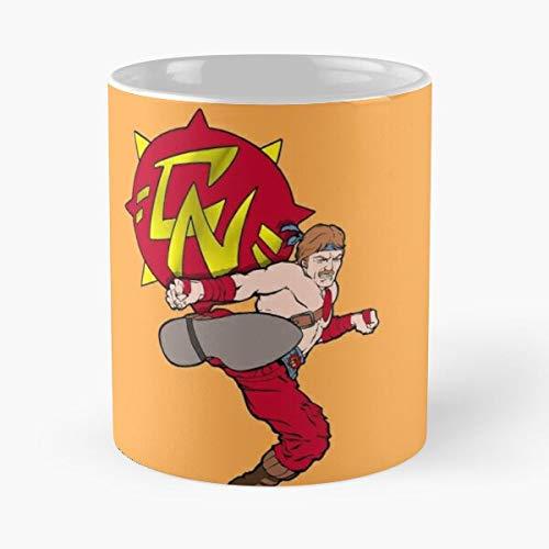 everyonic Kick Chuck and Kommandos Karate The Norris Mug Best Mug hält Hand 11oz aus weißer Marmorkeramik