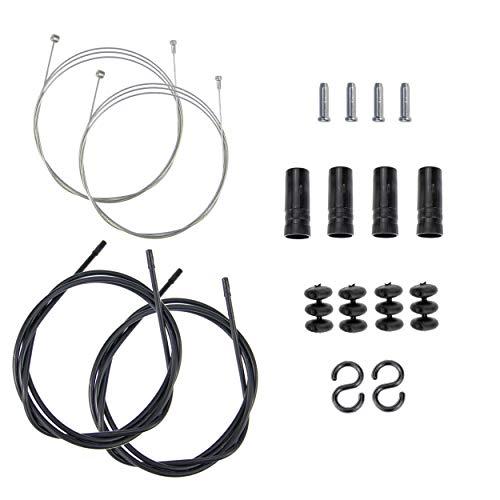P4B | Bremszug - Set für Ihr Fahrrad | Bremszüge mit Doppelnippel - 1,5 mm Durchmesser | Außenhüllen mit montierten Endkappen
