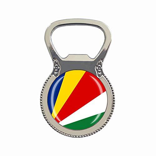 Flaschenöffner, Seychellen-Flagge, Bierflaschenöffner, Kühlschrankmagnet, Metall, Glas, Kristall, Reise-Souvenir, Geschenk, Heimdekoration