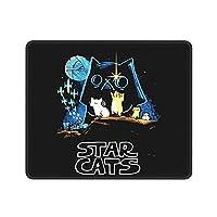 マウスパッド mouse pad スターキャット 面白い 猫柄 ゲーミング デスクマット マウスパッド ラップトップマット テーブルマット FPSゲーム コップ敷き お茶パッド ゴム製裏面 防水 滑り止め 22x18cm 24x20cm 26x21cm 30x25cm