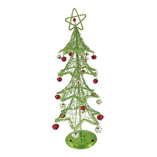 Dailymall - Árbol de Navidad artificial con base de metal, árbol de Navidad, fiesta de Navidad, color verde
