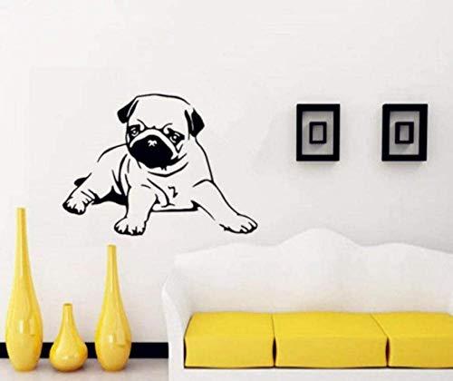 Huisdieren Muurstickers Hond Persoonlijkheid Muurstickers Woonkamer Slaapbank Achtergrond Muur PVC Sticker-80X58CM