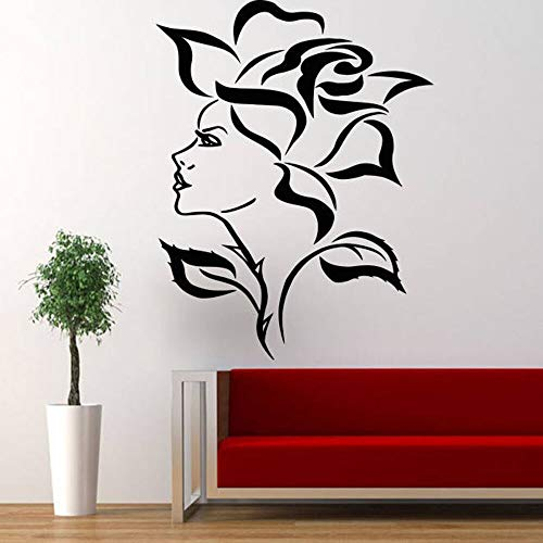 Tianpengyuanshuai muurstickers, vinyl, zelfklevend, decoratie voor huis, dames, gezicht, roze, behang, afneembaar motief