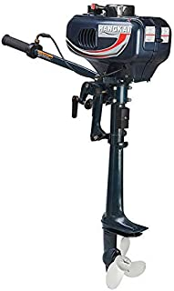 NOPTEG Hangkai Water Cooled 2 Stroke 3.5 HP Boat Engine Outboard Boat Motor