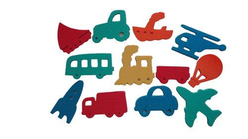 Badesticker Badespielzeug - Moosgummi Fahrzeuge Autos Wasser Stärke 0,8cm - 12 Stück NEU&Originalverpackt