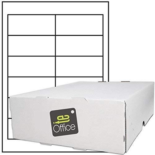 TE-Office 6000 Unidades Etiquetas adhesivas Etiquetas adhesivas Etiquetas de envío en A4 Arco blanco mate 97 x 42,4 mm Láser Inyección de tinta